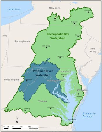 Maps Of The Chesapeake Bay Rivers And Access Points - Us map chesapeake bay