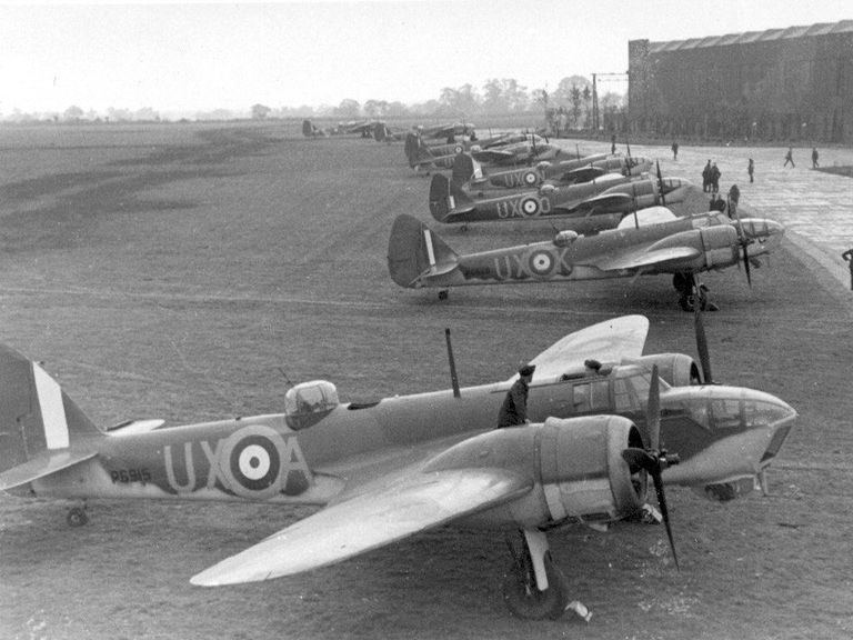 RAF Bristol Blenheim bombers