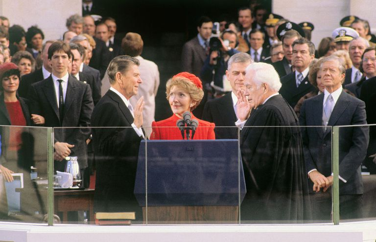 Ronald Reagan Taking Oath of Office