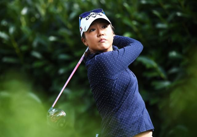 Lydia Ko during the second round of the 2015 Evian Championship