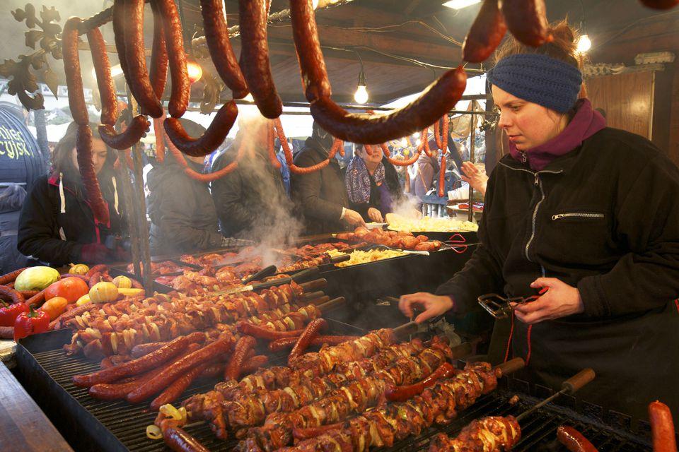 Christmas Market, Krakow, Poland, Europe