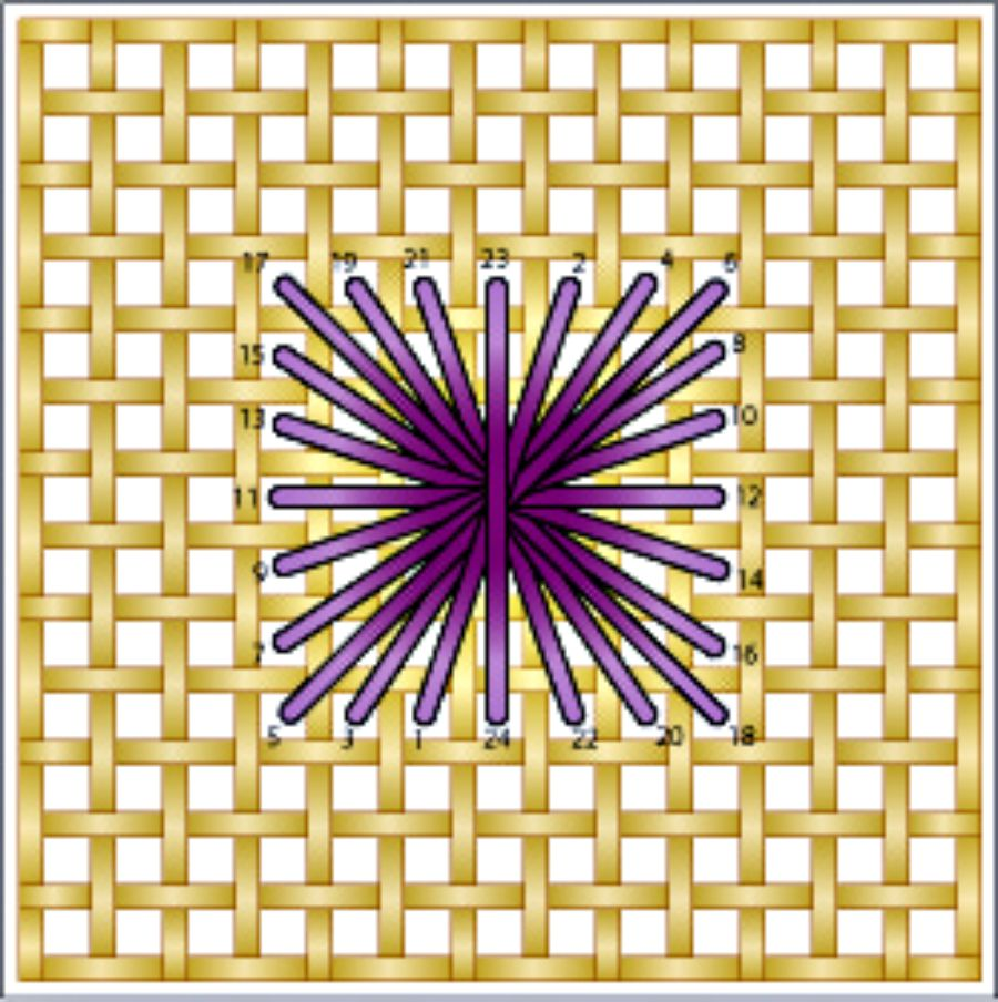 Basic Rhodes Needlepoint Stitch Diagram