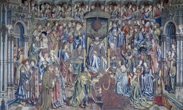 David and Bathsheba (Bathsheba Received at Court), tapestry