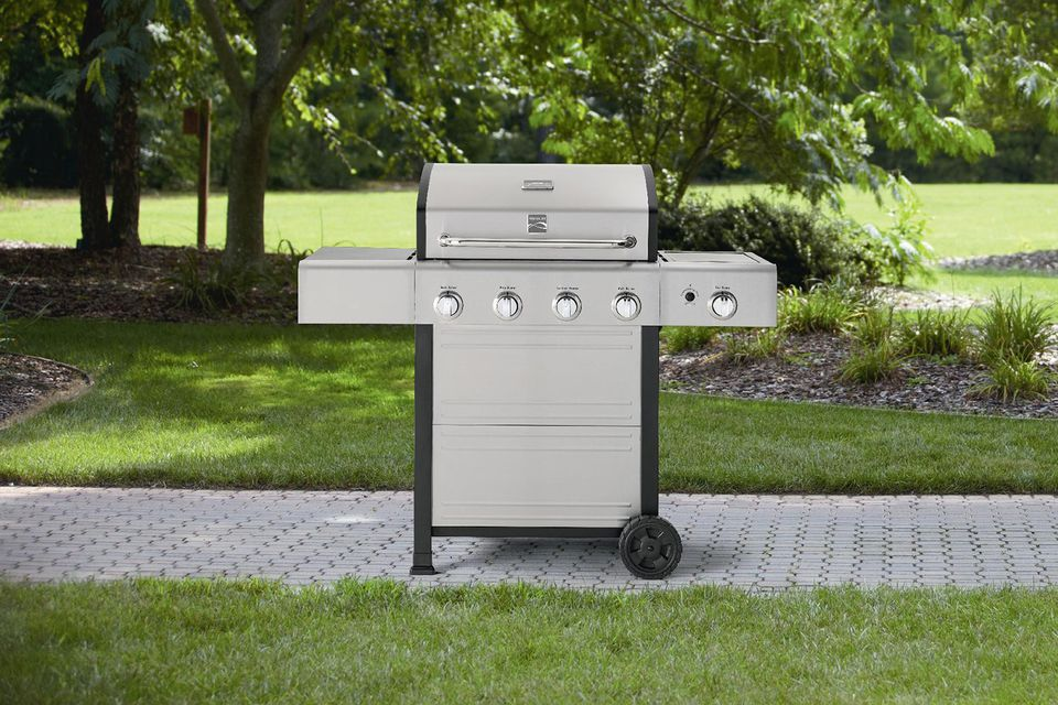 Kenmore 4 Burner Gas Grill With Stainless Steel Lid Model# PG-40401SOL