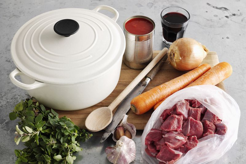 Crock Pot and Meat