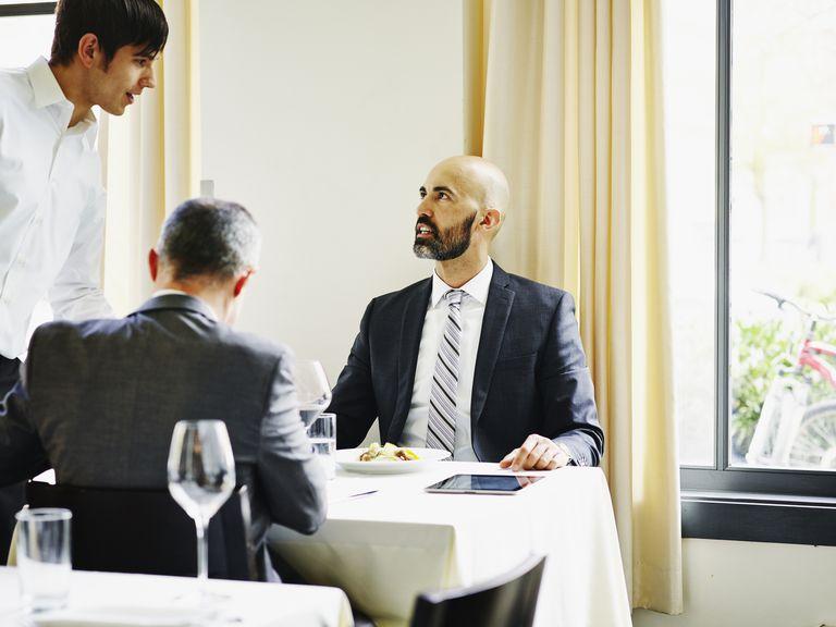 Man ordering at restaurant