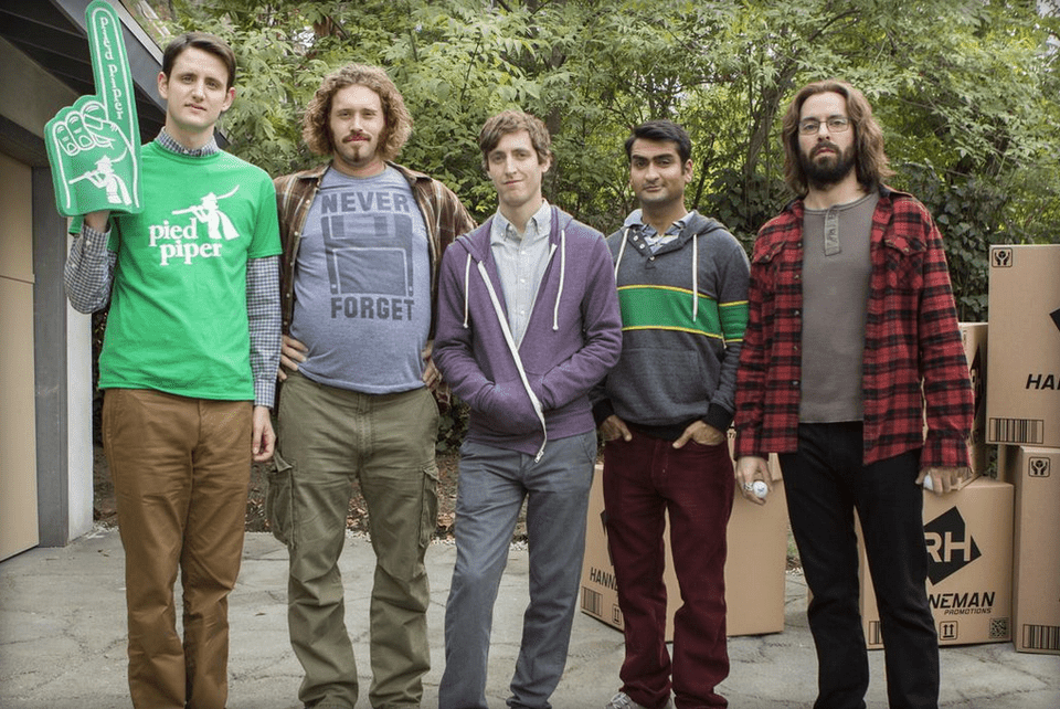 The Pied Piper team on HBO's series, Silicon Valley
