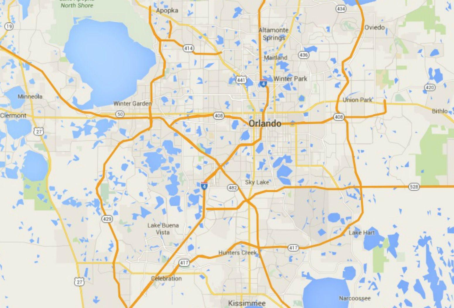 . maps of florida orlando tampa miami keys and more