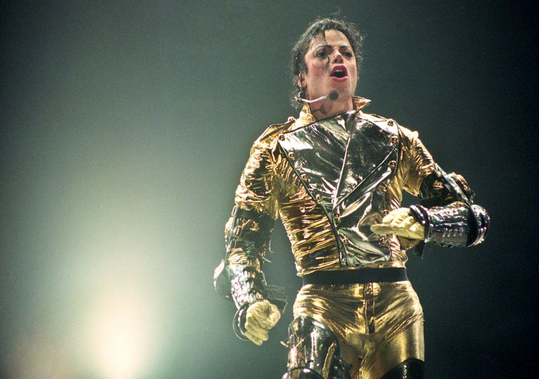 "Michael Jackson performs on stage during his ""HIStory"" world tour concert"