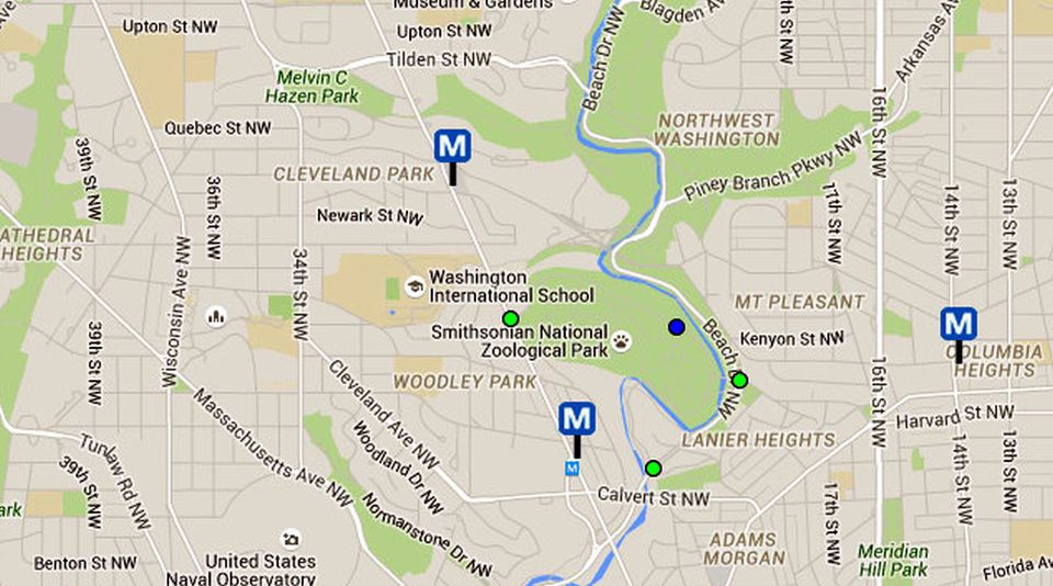 National Zoo Maps and Directions Washington DC