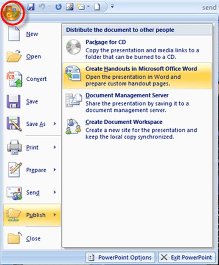 Convert PowerPoint 2007 To Word