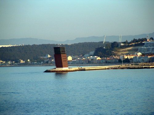 Sailing Up the Tagus River to Lisbon, Portugal