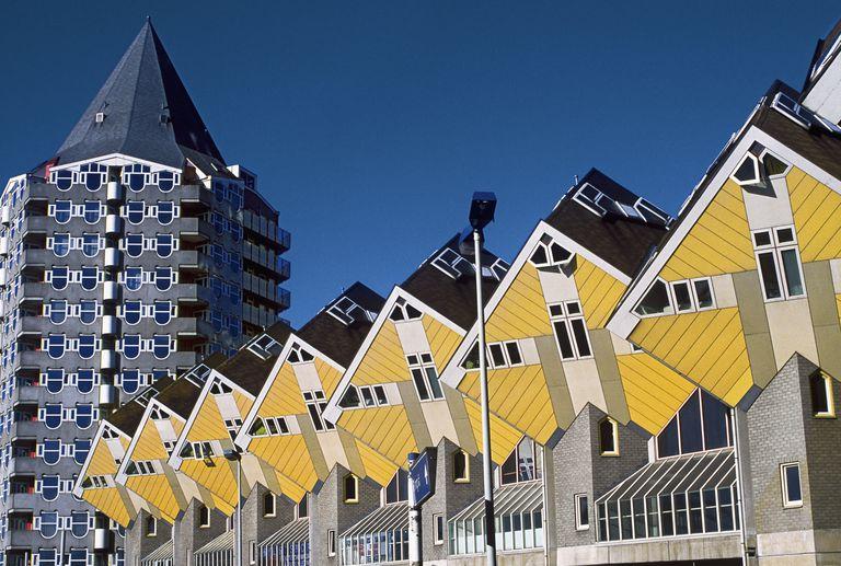 Cube Houses (Kubuswoningen), Rotterdam, Netherlands, designed by Piet Blom (1934-1999) in 1984