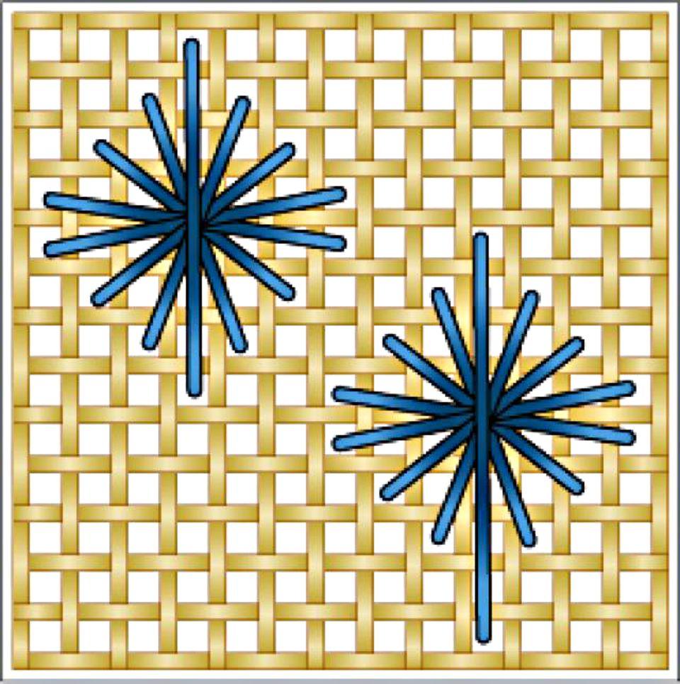 Rhodes Star Needlepoint Stitch Diagram