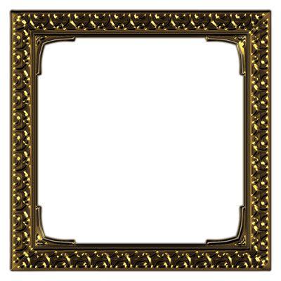 Ornate Brass Square Frame