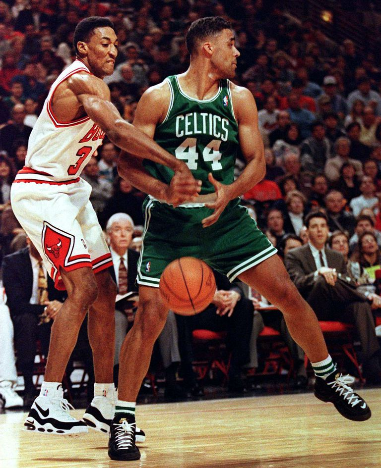 Scottie Pippen wearing Nike Air Max Uptempo