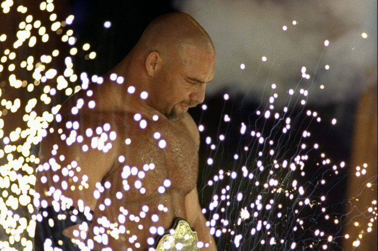 Bill Goldberg enters the ring.