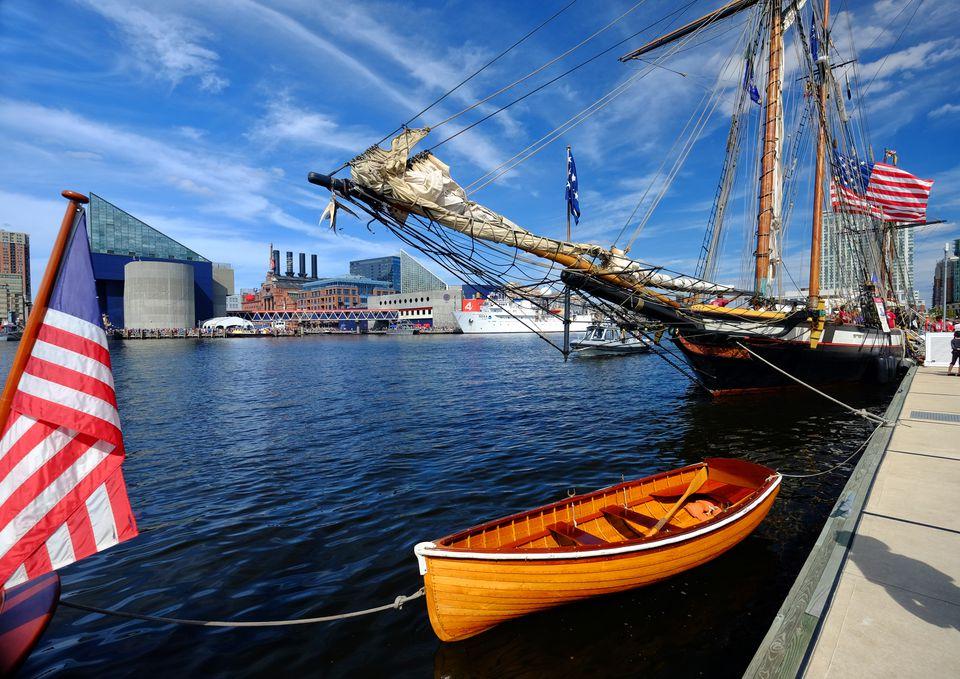 Ships in Baltimore's Inner Harbor
