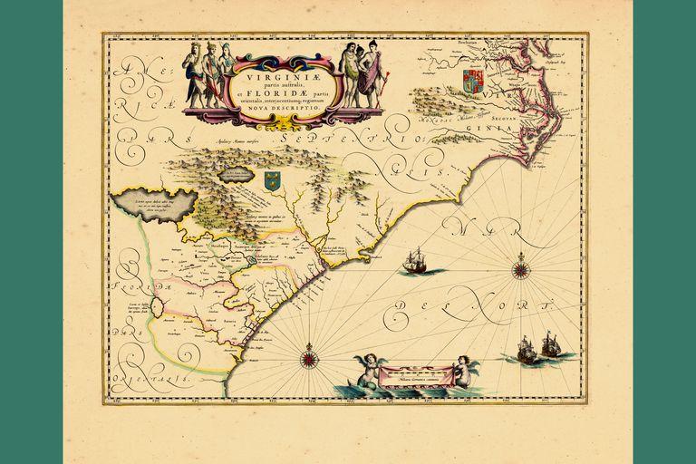 European settlement in North America in 1640