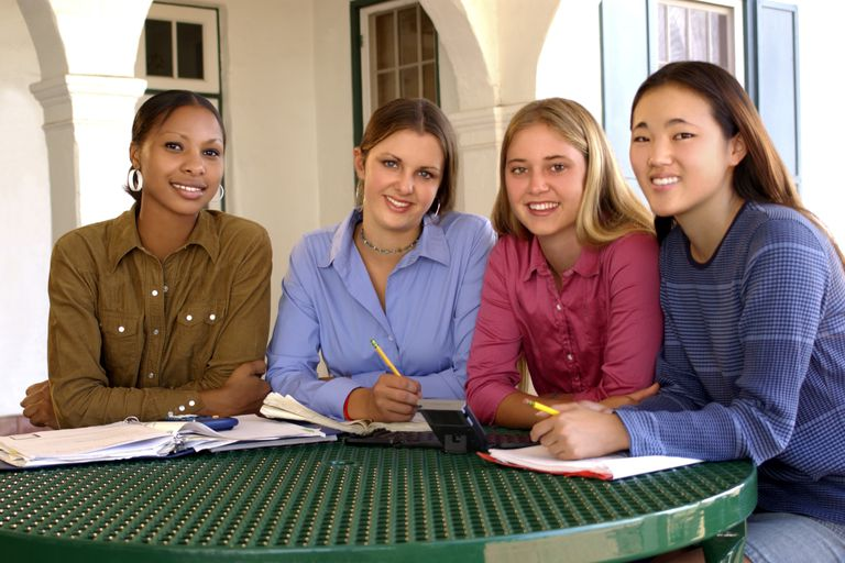 Group of high school students