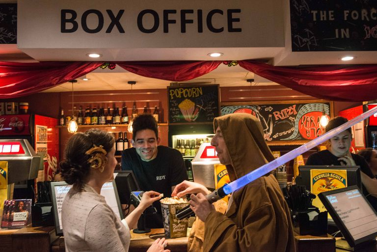 Fans Attend Midnight Showing Of Star Wars: The Force Awakens At Inde Cinema