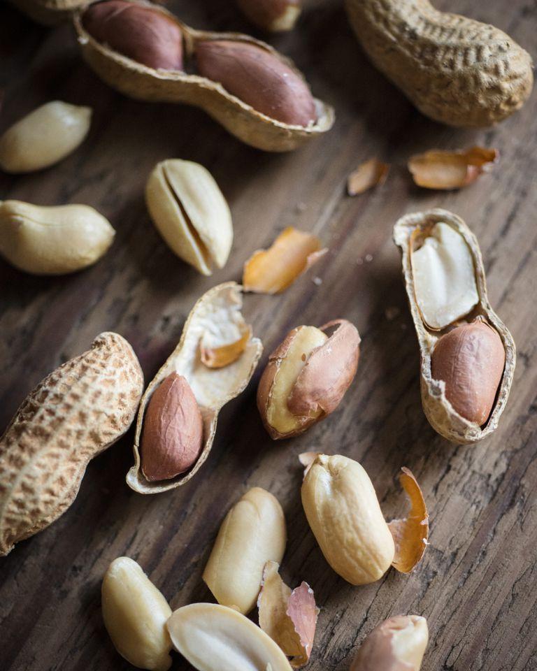 peanuts on table