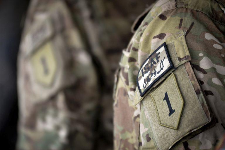 army patch on uniform