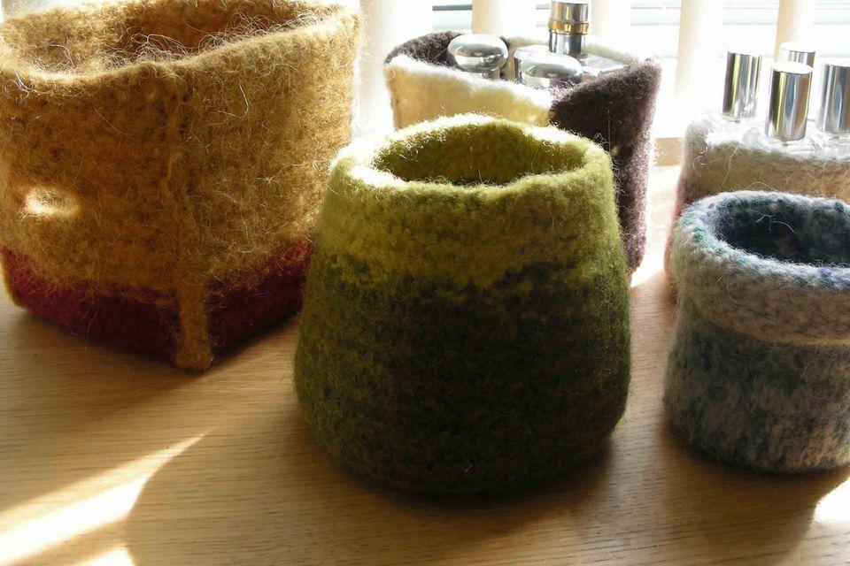 Knit felt