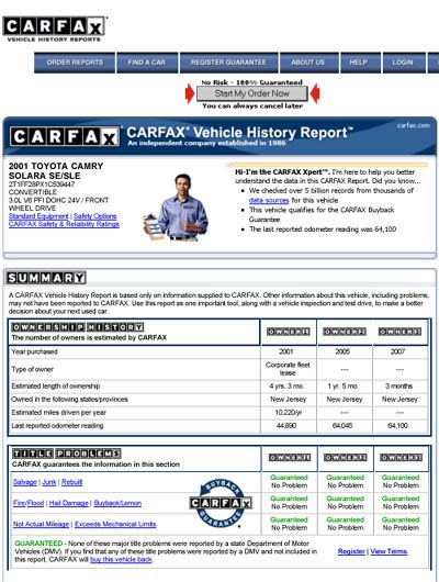 how to read a carfax report. Black Bedroom Furniture Sets. Home Design Ideas