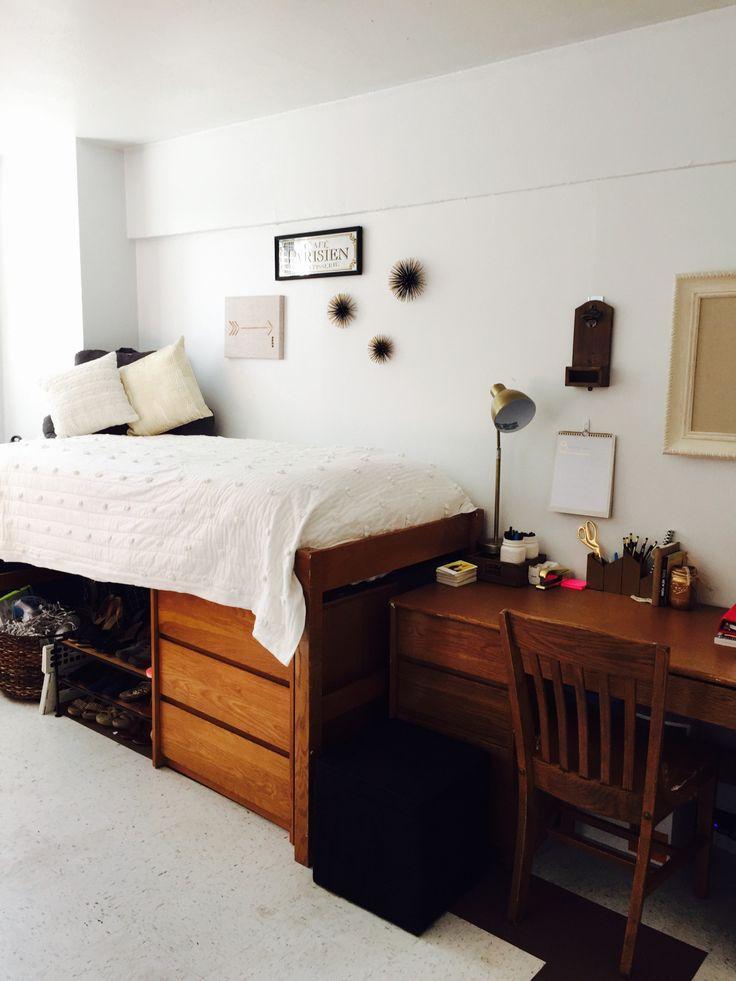 All White Dorm Room Decor