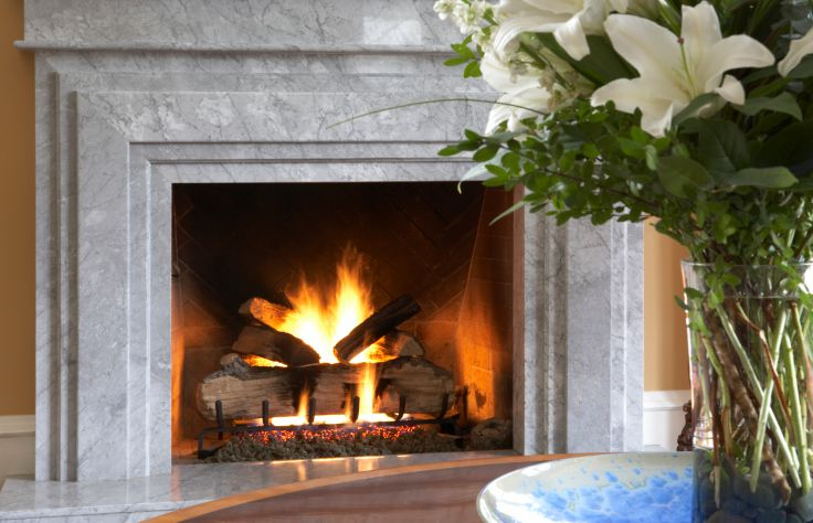 feng shui living room fireplace
