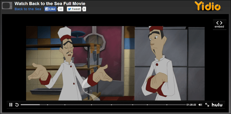 "Screenshot of the movie ""Back to the Sea"" at Yidio"