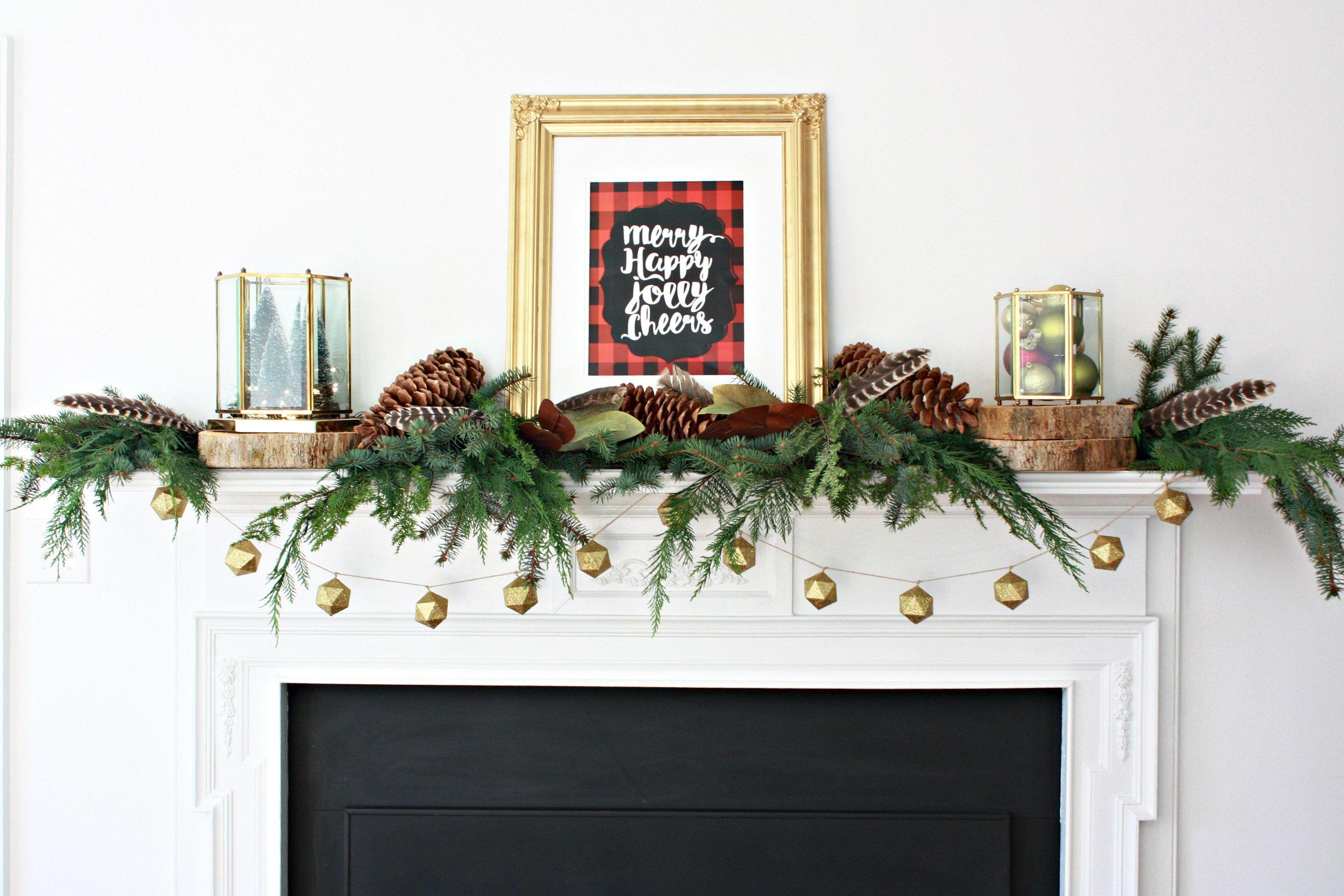 Design Christmas Mantel 34 easy and elegant christmas mantel ideas