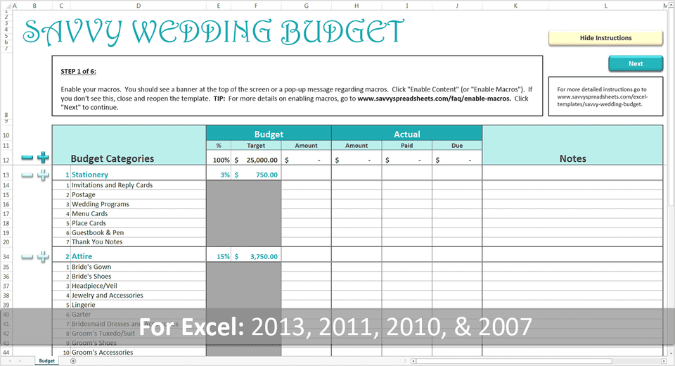 Strategies For Creating A Realistic Wedding Budget