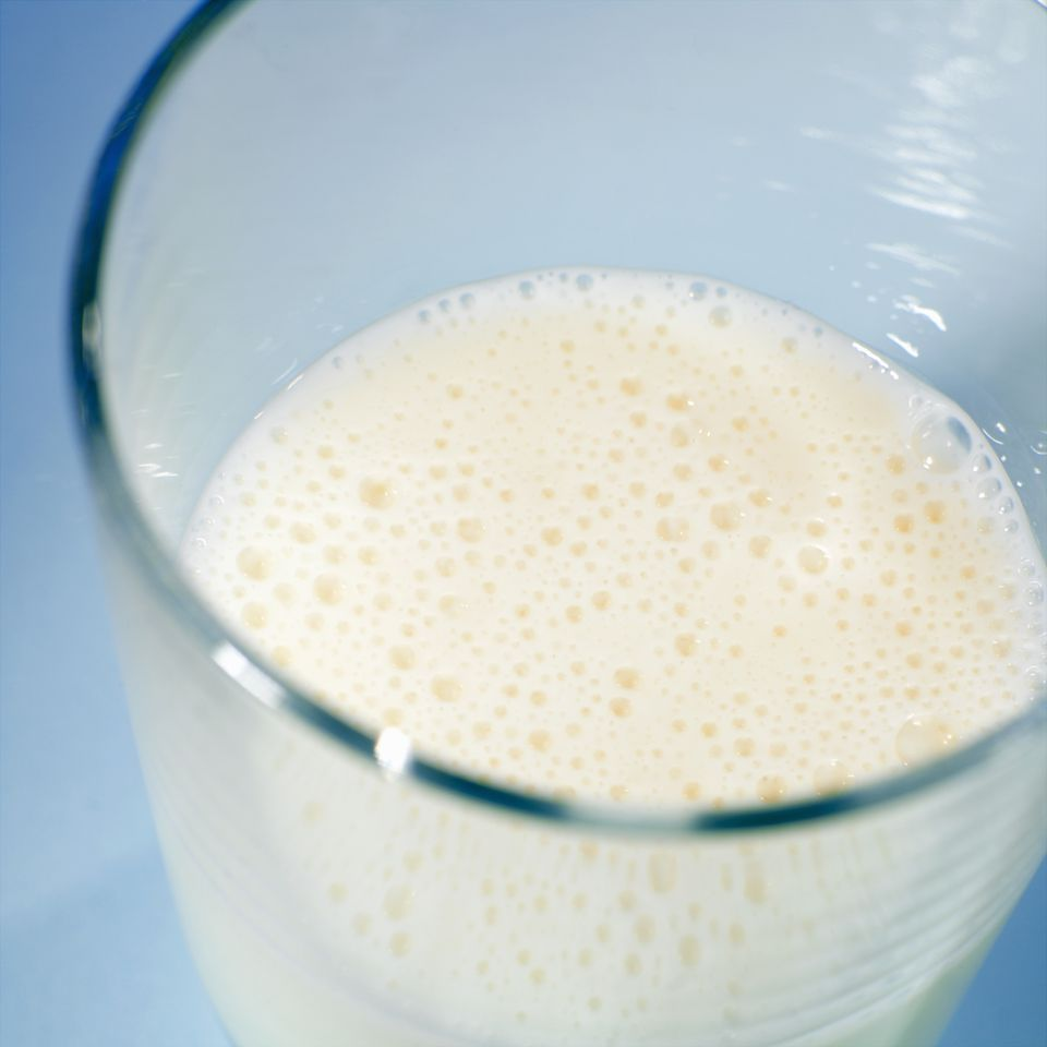 A glass of buttermilk