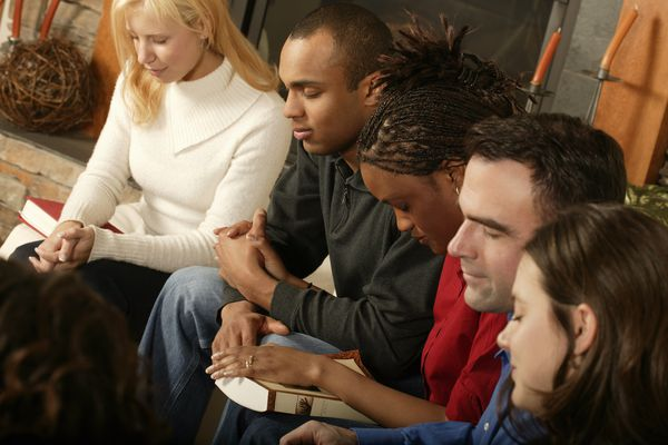 Group Prayer at a Bible Study Group