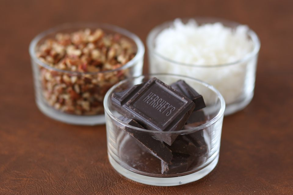 Chocolate, Pecans, and Coconut