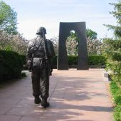 The Minnesota Korean War Memorial on the State Capitol Grounds in St. Paul