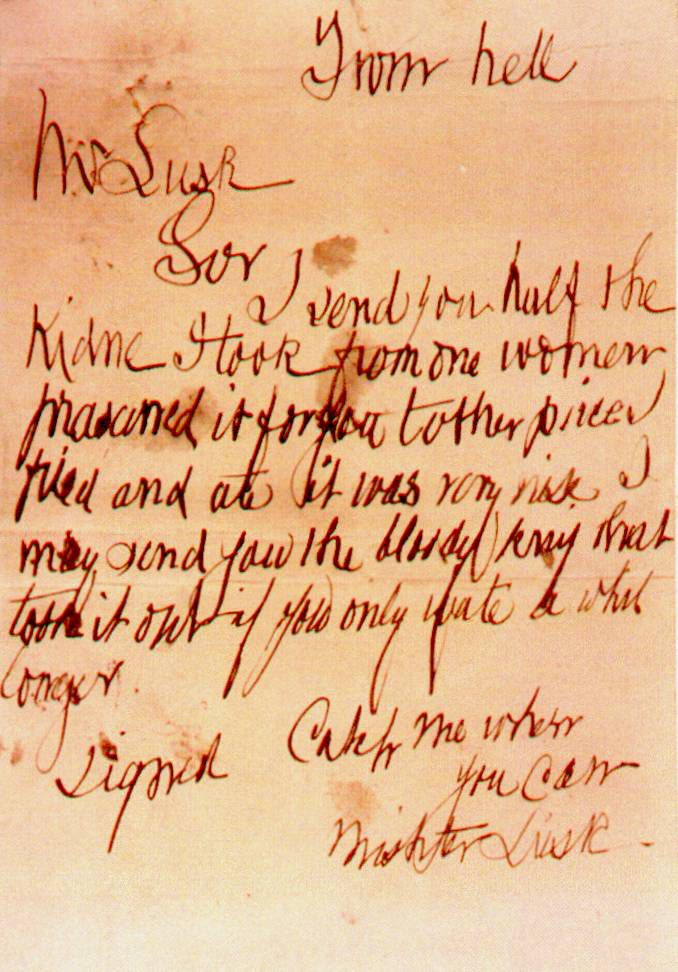 The 'From Hell' Letter