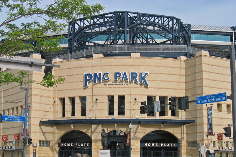 Front entrance of PNC Park, home of the Major League baseball Pittsburgh Pirates