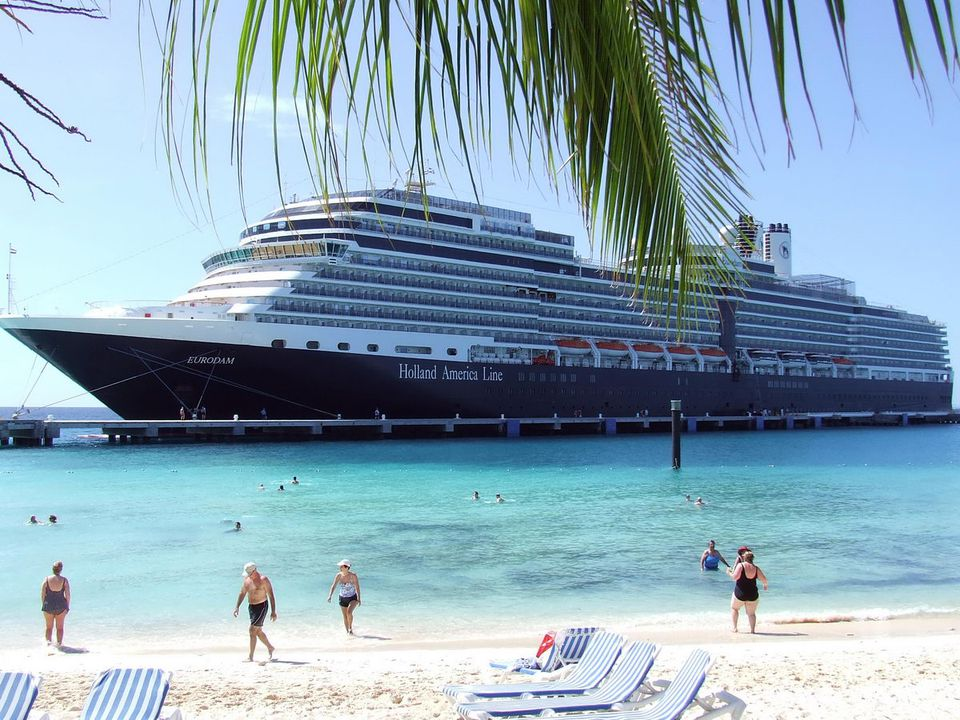 View of the Eurodam from the Beach at Grand Turk Island