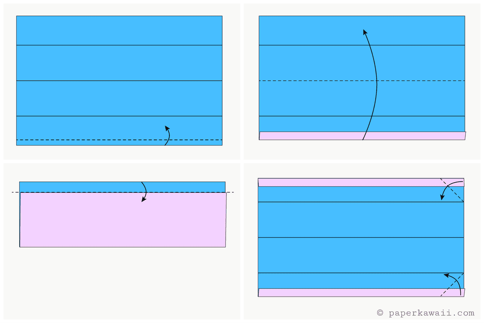 easy origami wallet diagram 3