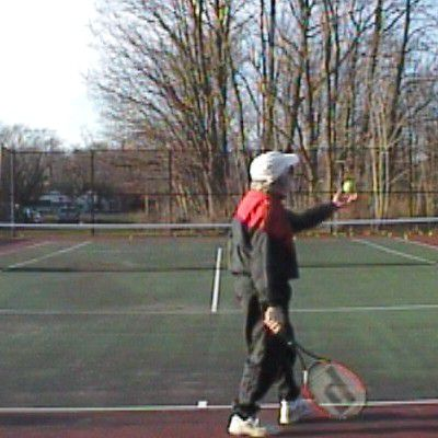 Heavy Slice Serve Grip, Toss Hold, and Stance