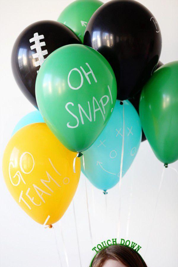 DIY Game Day Balloons