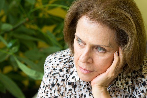 Pensive senior woman
