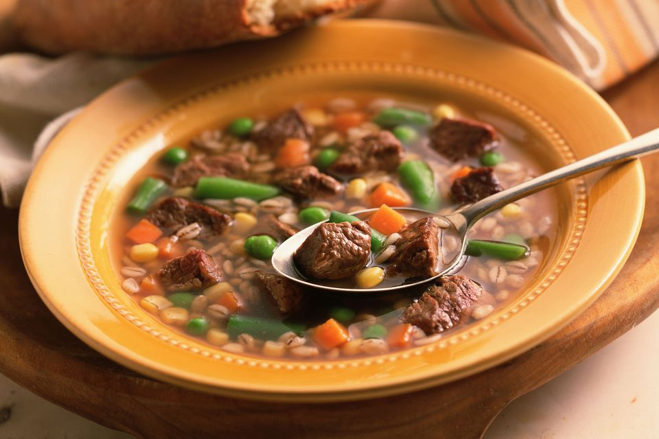 Beef and Barley Soup with Vegetables