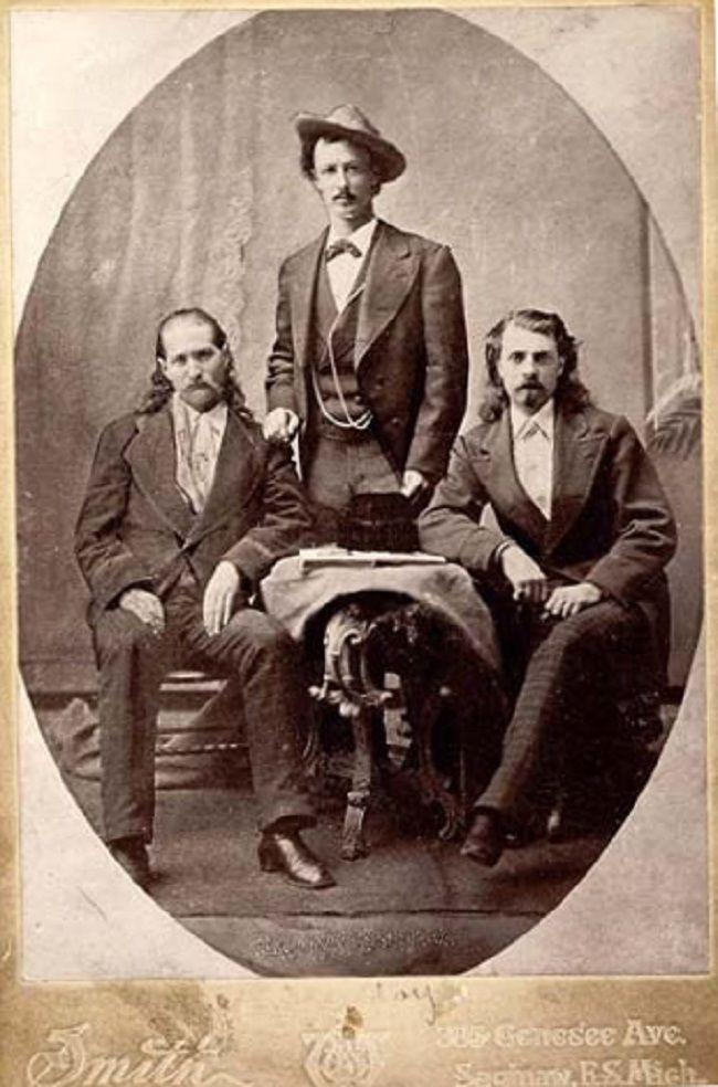 Wild Bill Hickok, Texas Jack Omohundro, and Buffalo Bill Cody