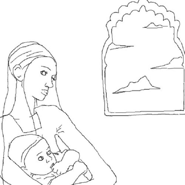 Artistic Impression of The Infant Guru Nanak