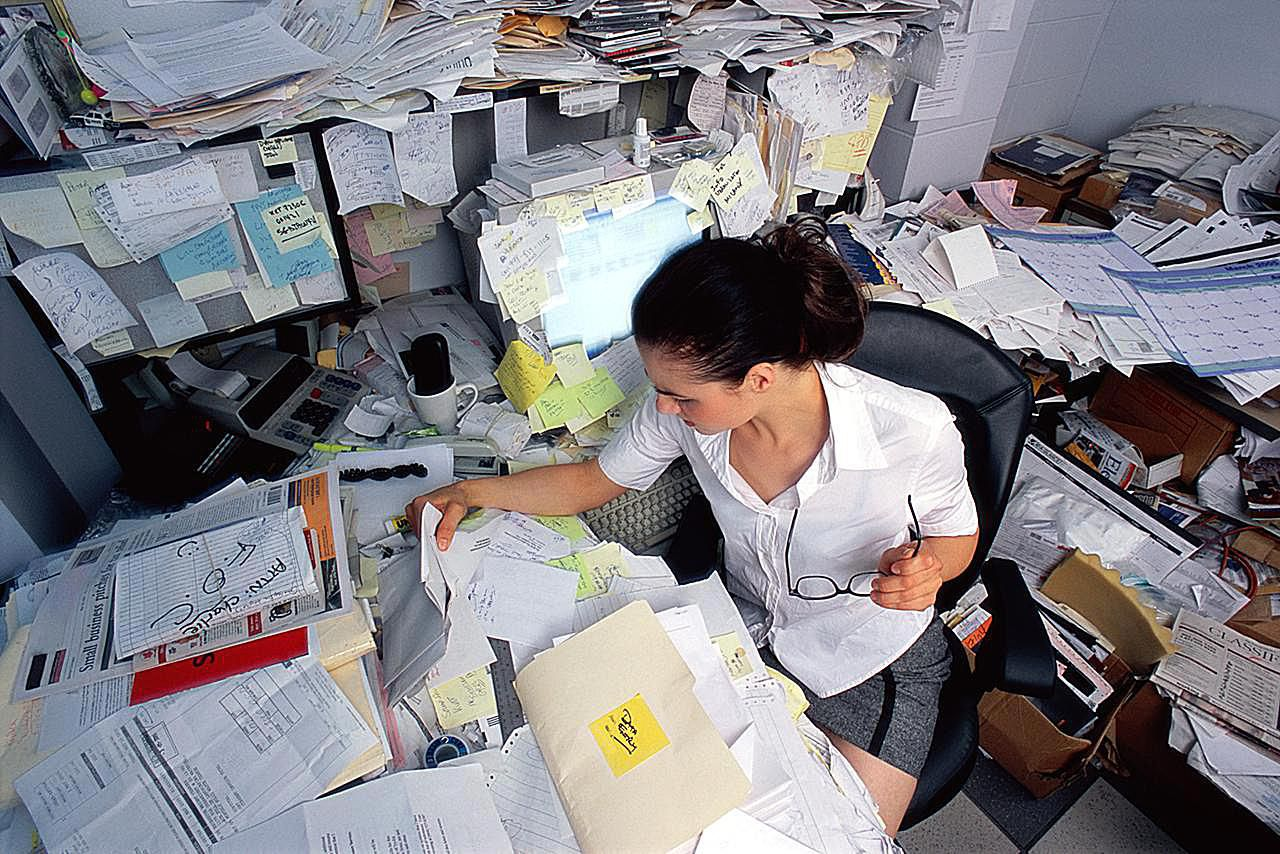 Home Office Organization Files Paper Clutter