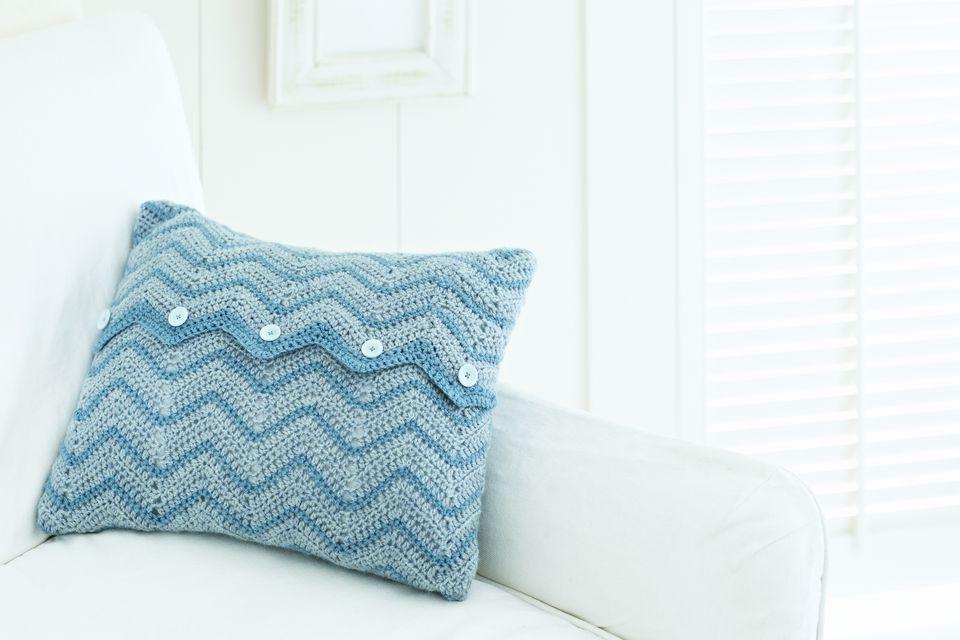 Crocheted sofa pillow